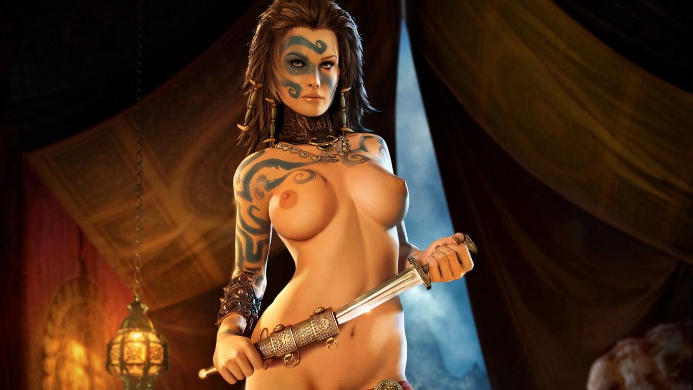 Рисованные голые девушки из компьютерных игр 3 фотография